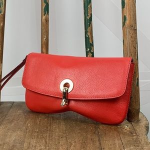 Red Leather Wristlet by Kate Spade
